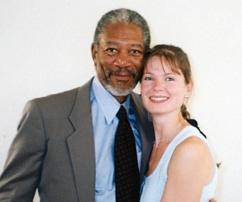 Marie with Morgan Freeman